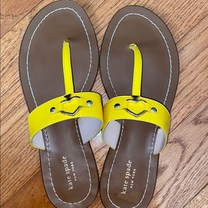 Kate Spade yellow sandals size 10